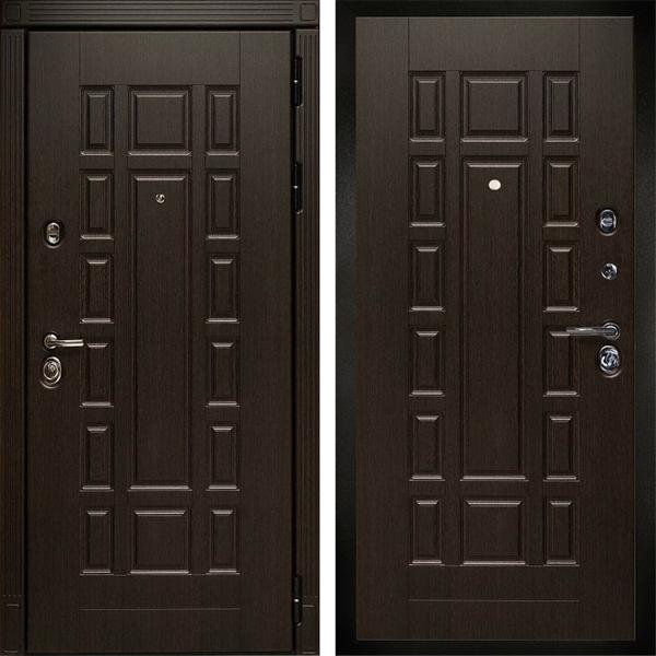 Входная металлическая дверь Дива МД-38 (Венге / Венге)
