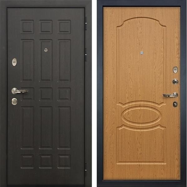 Входная металлическая дверь Лекс 8 Сенатор ФЛ-139 МДФ-12 Дуб натуральный