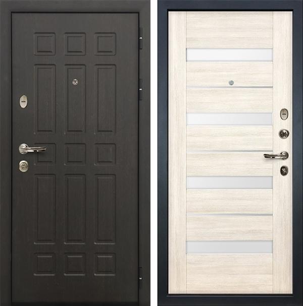 Входная металлическая дверь Лекс 8 Сенатор Сицилио Дуб беленый (№46)