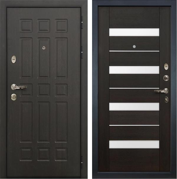 Входная металлическая дверь Лекс 8 Сенатор Экошпон Сицилио Венге