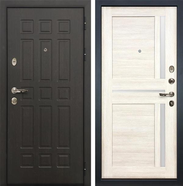 Входная металлическая дверь Лекс 8 Сенатор Баджио Дуб беленый (№47)