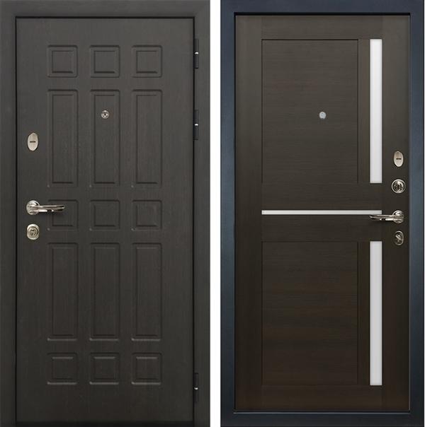 Входная металлическая дверь Лекс 8 Сенатор Экошпон Баджио Венге
