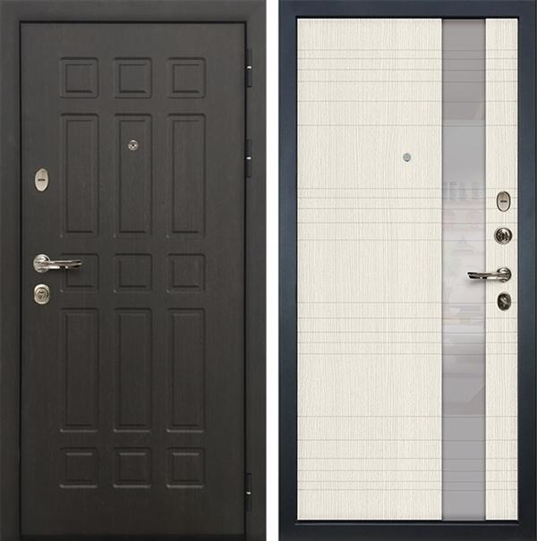 Входная металлическая дверь Лекс 8 Сенатор Новита Дуб беленый (№52)