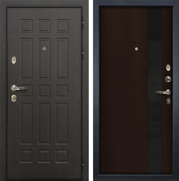 Входная металлическая дверь Лекс 8 Сенатор Экошпон Новита Венге