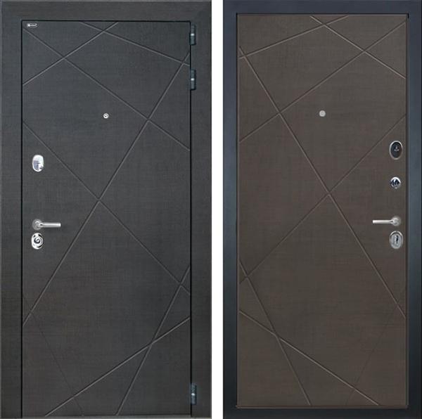 Входная металлическая дверь Интекрон Сенатор Лучи (Венге распил кофе / Венге распил кофе)