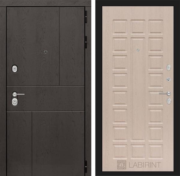 Входная металлическая дверь Лабиринт Урбан 4 (Дуб горький шоколад / Дуб беленый)