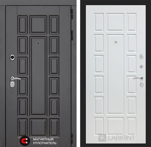 Входная металлическая дверь Лабиринт Нью-Йорк 12 (Венге / Белое дерево)
