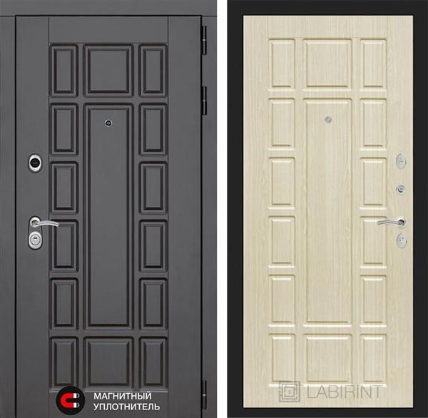 Входная металлическая дверь Лабиринт Нью-Йорк 12 (Венге / Дуб беленый)