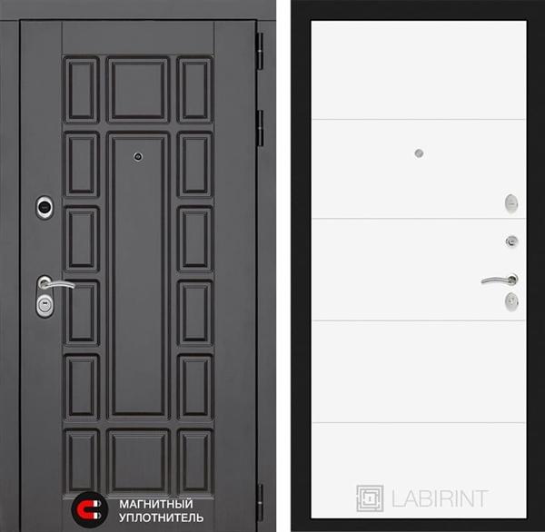 Входная металлическая дверь Лабиринт Нью-Йорк 13 (Венге / Белый софт)