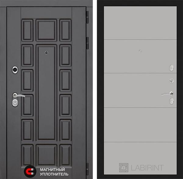 Входная металлическая дверь Лабиринт Нью-Йорк 13 (Венге / Грей софт)
