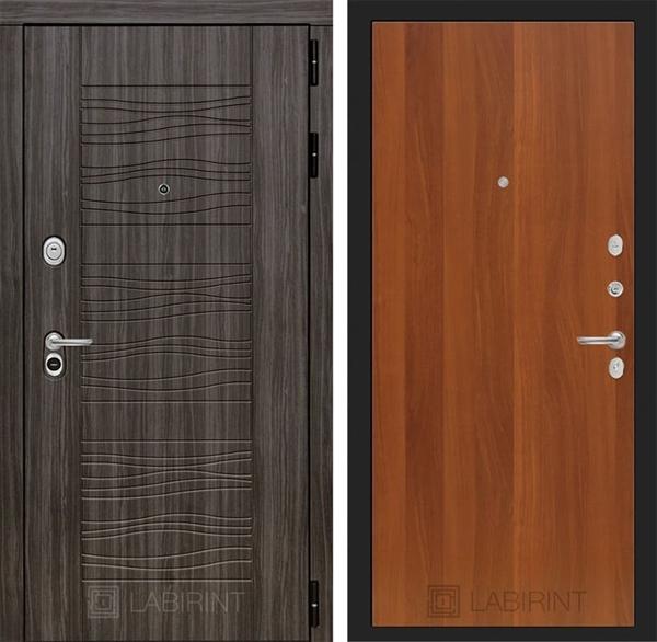 Входная металлическая дверь Лабиринт Сканди 5 (Дарк Грей / Итальянский орех)
