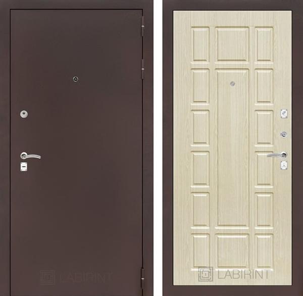 Входная дверь Лабиринт Классик 12 (Антик медный / Дуб беленый)