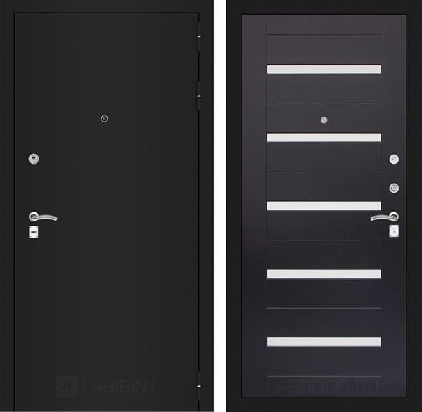 Входная металлическая дверь Лабиринт Классик 1 (Шагрень черная / Венге)