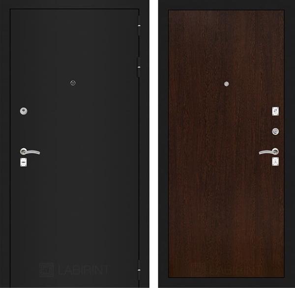 Входная металлическая дверь Лабиринт Классик 5 (Шагрень черная / Венге)