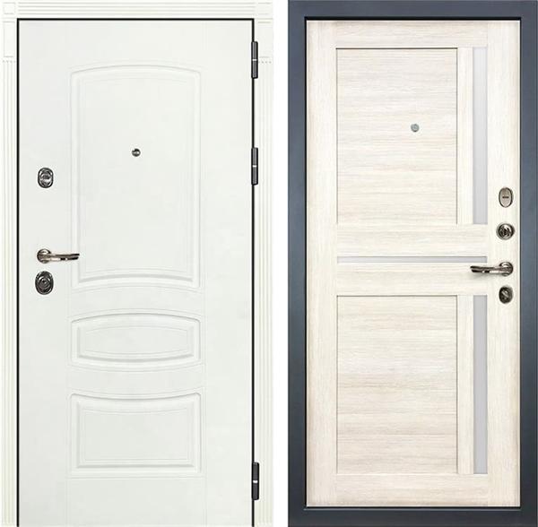 Входная дверь Лекс Сенатор 3К Шагрень белая Баджио (№47 Дуб беленый)