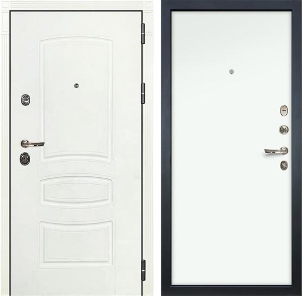 Входная дверь Лекс Сенатор 3К Шагрень белая (№59 Белый Винорит)