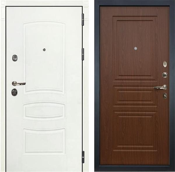Входная дверь Лекс Сенатор 3К Шагрень белая (№19 Береза мореная)