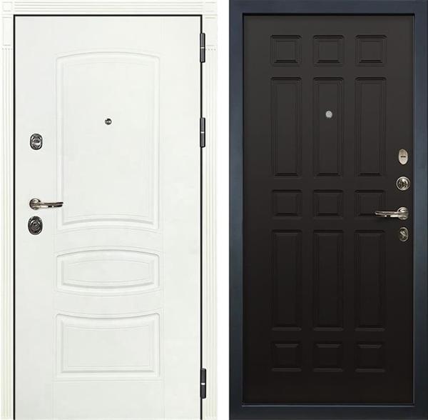 Входная дверь Лекс Сенатор 3К Шагрень белая (№29 Венге)