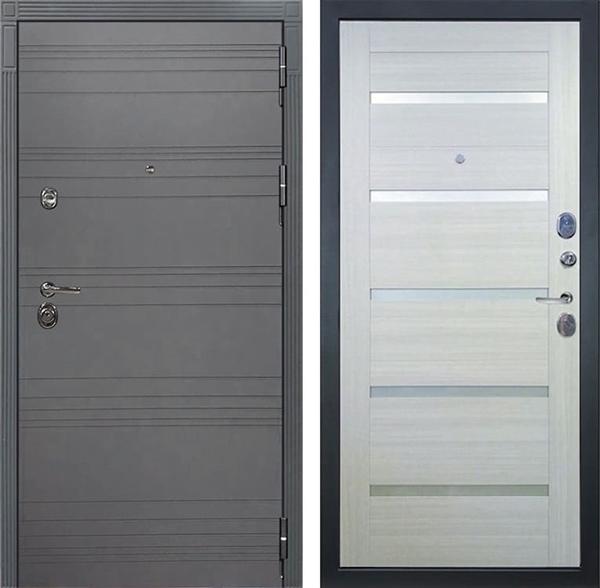 Входная дверь Лекс Сенатор 3К Софт графит Клеопатра-2 (№58 Дуб беленый)