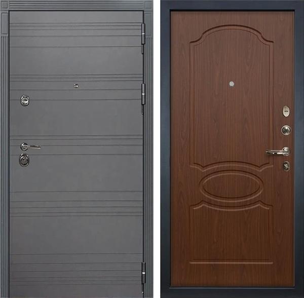 Входная дверь Лекс Сенатор 3К Софт графит (№12 Береза мореная)