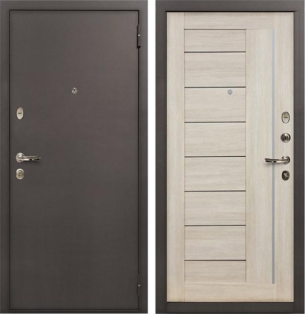Входная стальная дверь Лекс 1А Верджиния (№40 Ясень кремовый)
