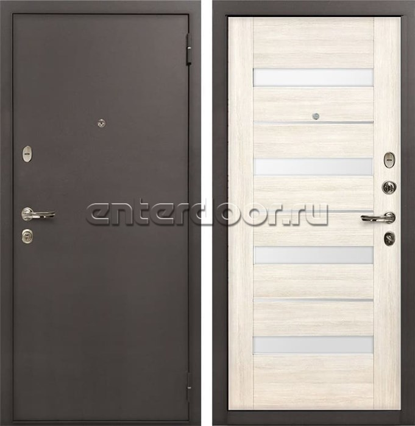 Входная стальная дверь Лекс 1А Сицилио (№46 Дуб беленый)