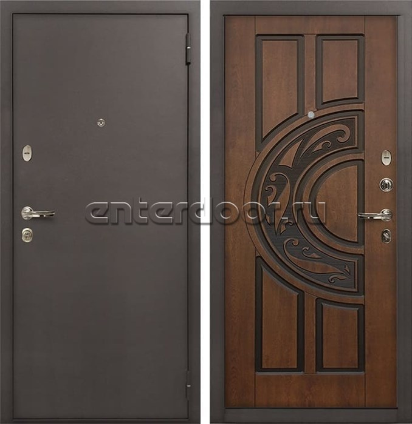 Входная стальная дверь Лекс 1А (№27 Голден патина черная)