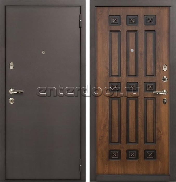 Входная стальная дверь Лекс 1А (№33 Голден патина черная)