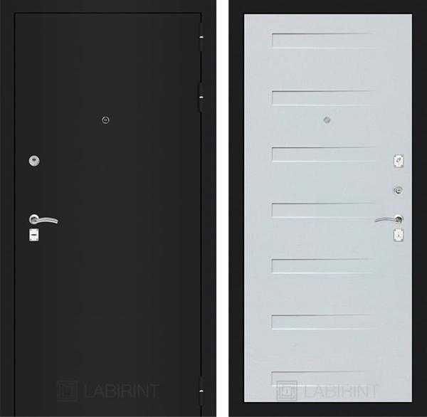 Входная дверь Лабиринт Классик 14 (Шагрень черная / Дуб кантри белый)