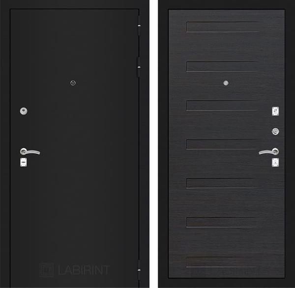 Входная дверь Лабиринт Классик 14 (Шагрень черная / ЭкоВенге)