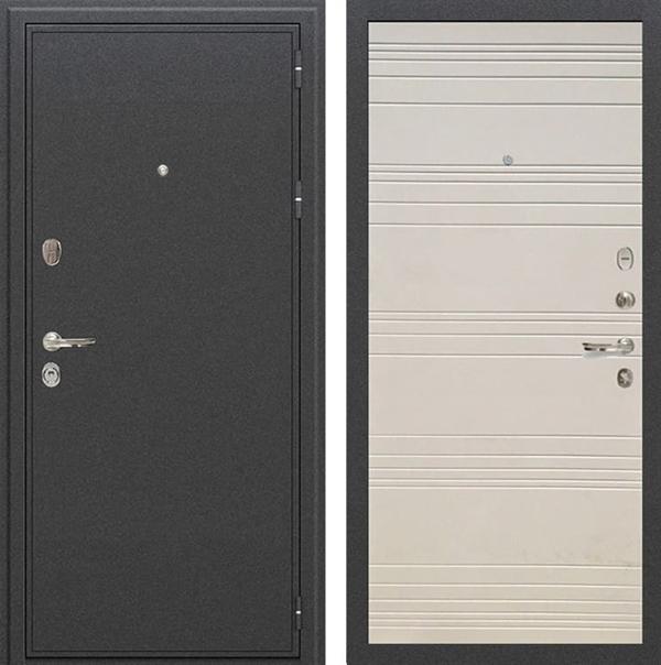 Входная металлическая дверь Лекс Колизей Дуб фактурный кремовый (№63)