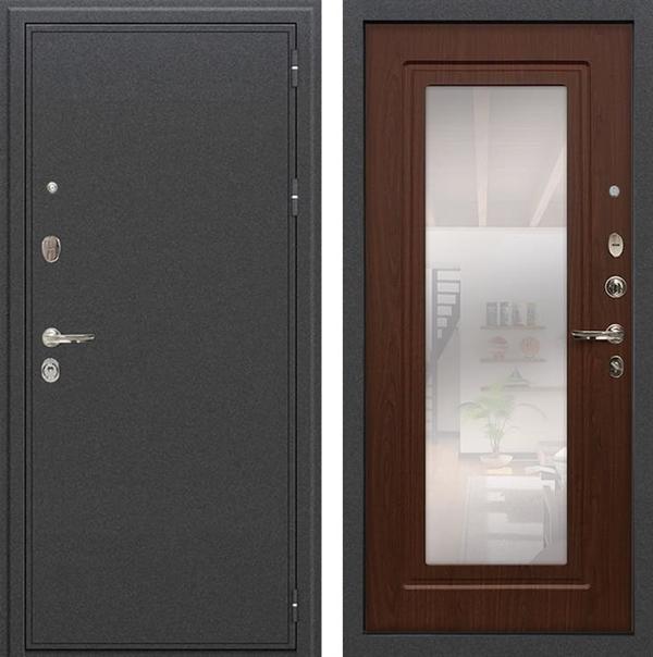 Входная металлическая дверь Лекс Колизей с Зеркалом Береза мореная (№30)