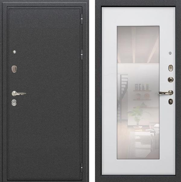 Входная металлическая дверь Лекс Колизей с Зеркалом Ясень белый (№37)
