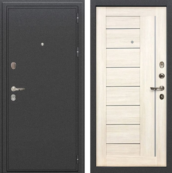 Входная металлическая дверь Лекс Колизей Верджиния Дуб беленый (№38)