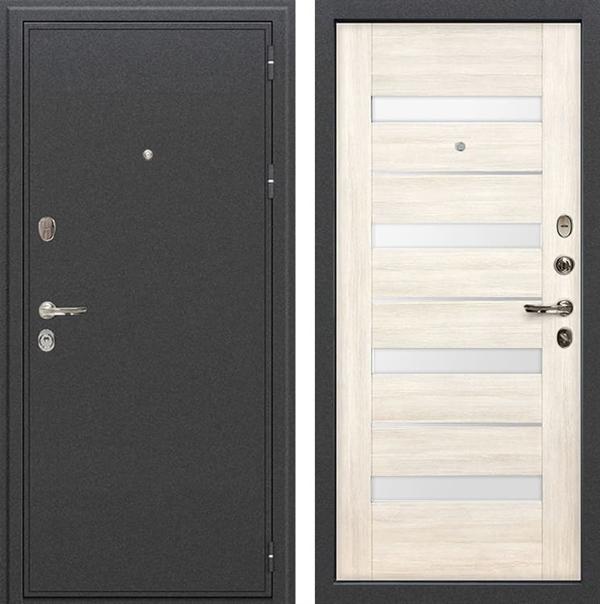 Входная металлическая дверь Лекс Колизей Сицилио Дуб беленый (№46)
