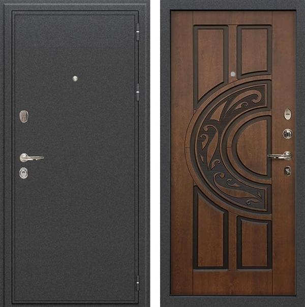Входная дверь Лекс Колизей Голден патина черная (№27)