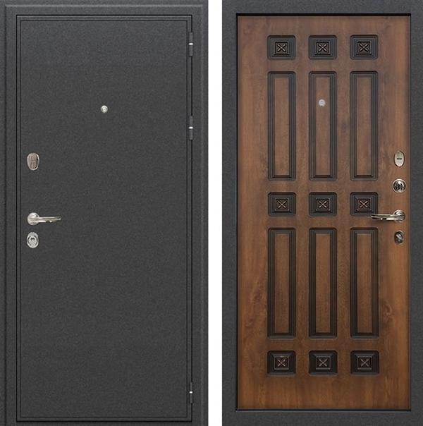 Входная дверь Лекс Колизей Голден патина черная (№33)