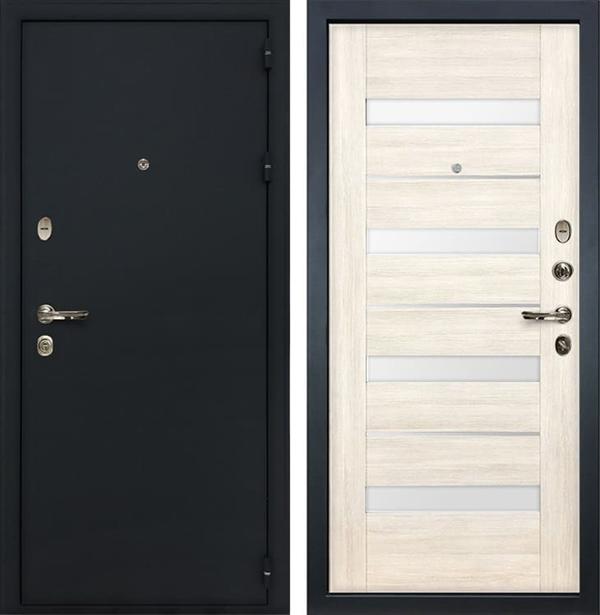 Входная металлическая дверь Лекс Рим Сицилио Дуб беленый (панель №46)