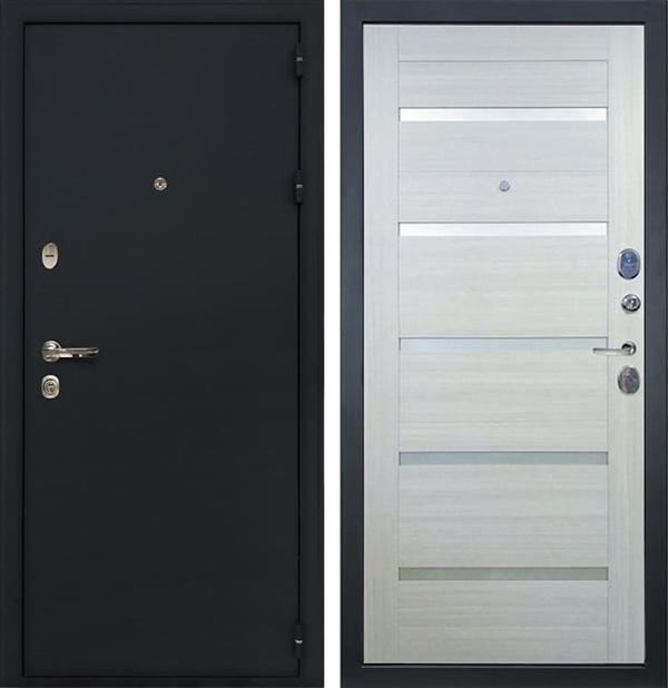 Входная металлическая дверь Лекс 2 Рим Клеопатра-2 Дуб беленый (панель №58)