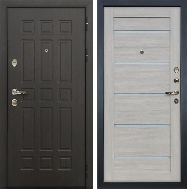 Входная дверь Лекс 8 Сенатор Клеопатра-2 Ясень кремовый (панель №66)