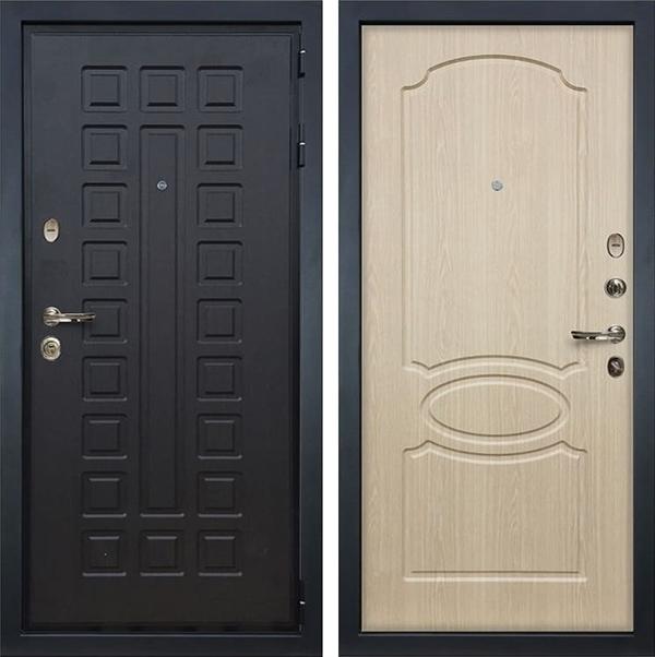 Входная металлическая дверь Лекс Гладиатор 3К дуб беленый (панель №14)
