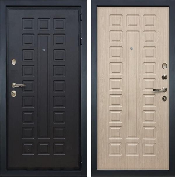 Входная металлическая дверь Лекс Гладиатор 3К Беленый дуб (панель №20)