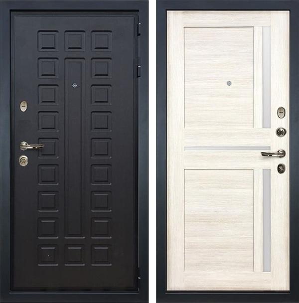Входная металлическая дверь Лекс Гладиатор 3К Баджио Дуб беленый (панель №47)