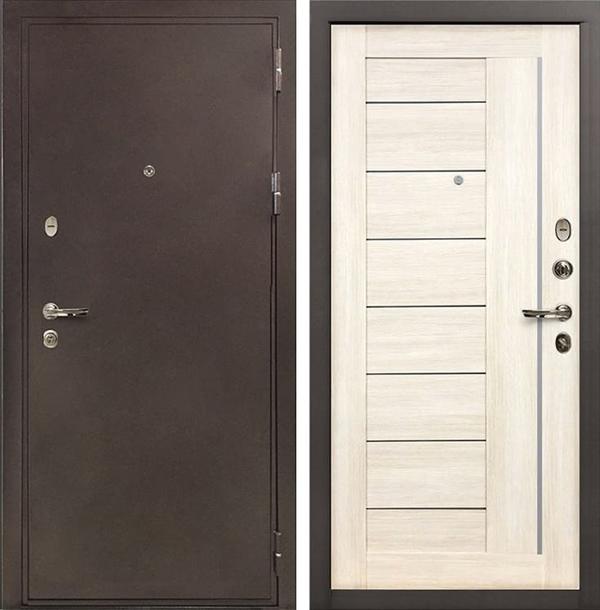 Входная металлическая дверь Лекс 5А Цезарь Верджиния Дуб беленый (панель №38)