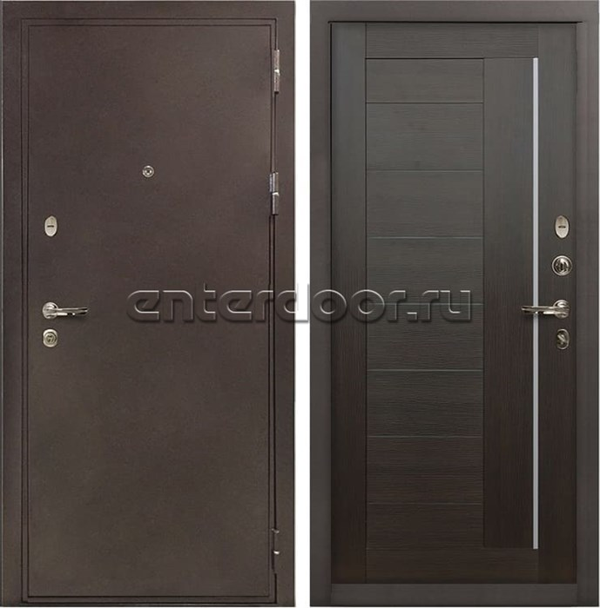 Входная металлическая дверь Лекс 5А Цезарь Верджиния Венге (панель №39)