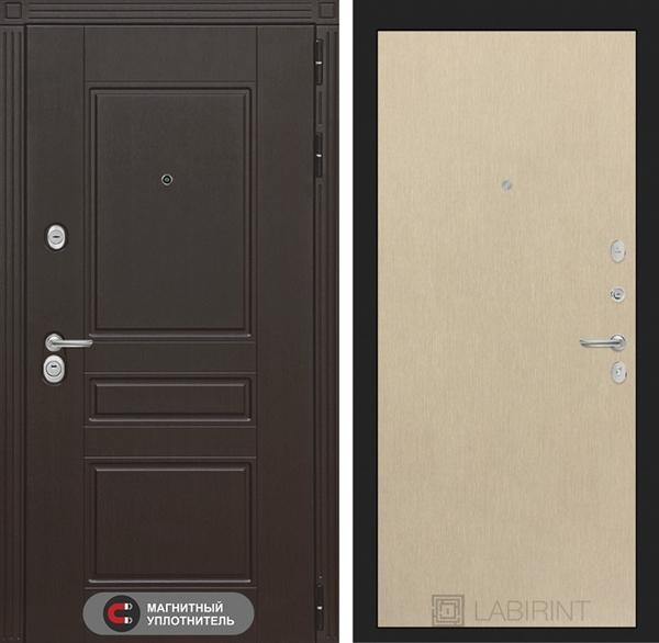 Входная металлическая дверь Лабиринт Мегаполис 5 (Венге / Венге светлый)