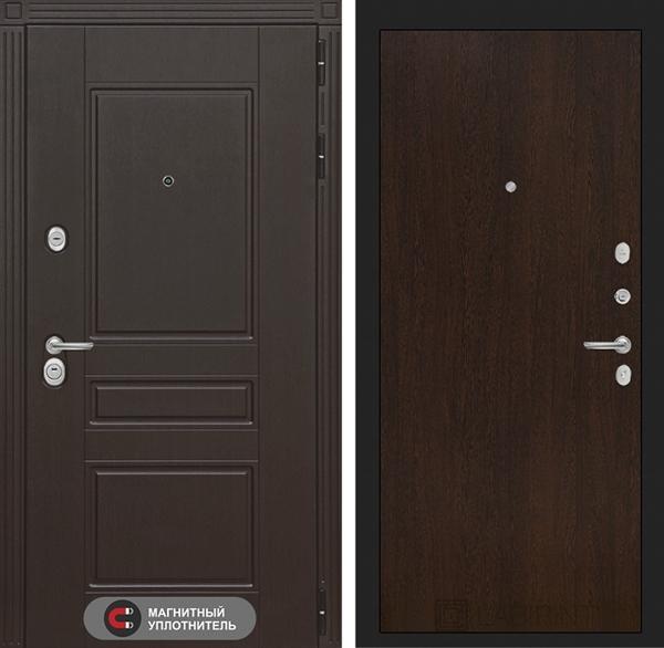 Входная металлическая дверь Лабиринт Мегаполис 5 (Венге)