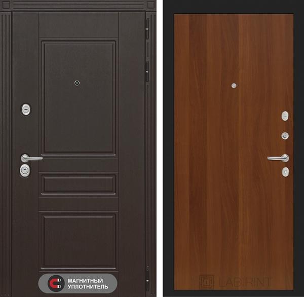 Входная металлическая дверь Лабиринт Мегаполис 5 (Венге / Итальянский орех)