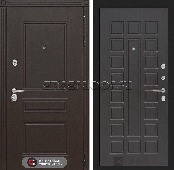 Входная металлическая дверь Лабиринт Мегаполис 4 (Венге / Венге)