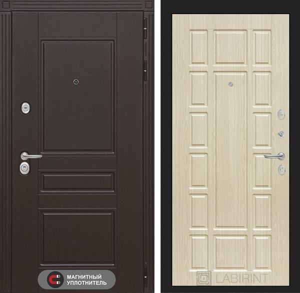 Входная металлическая дверь Лабиринт Мегаполис 12 (Венге / Дуб беленый)